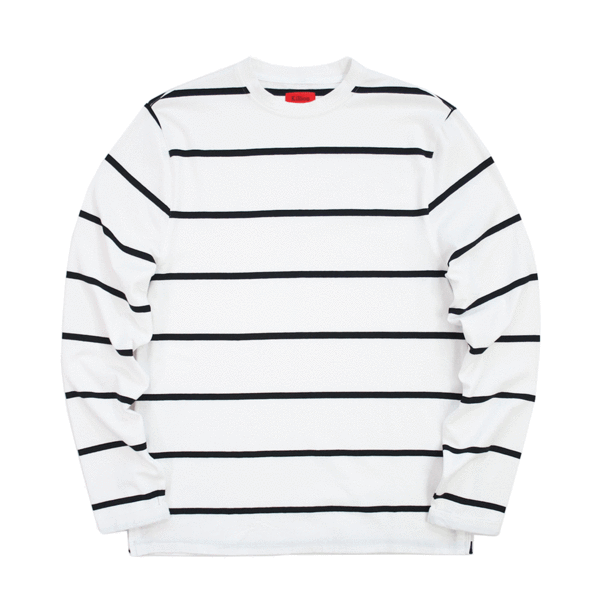 SI Wide Striped L/S - White