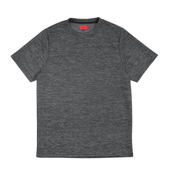 Jacquard Box Tee - Grey/White