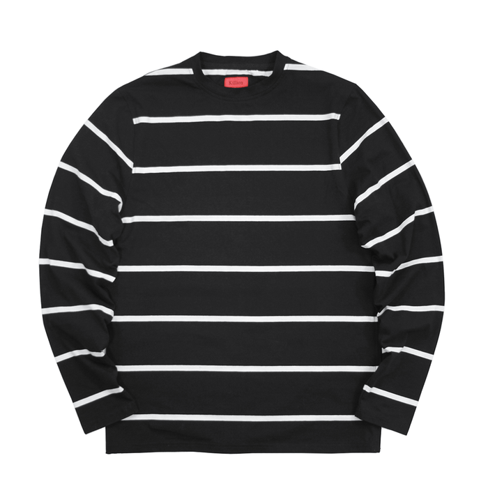 Wide Striped Side Zip L/S - Black