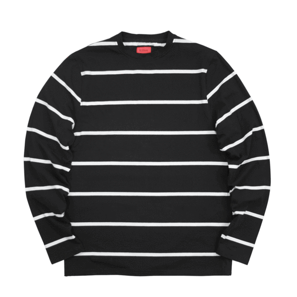 SI Wide Striped L/S - Black