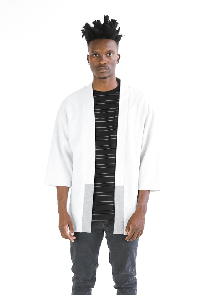 Reverse Terry Kimono - Heather Grey