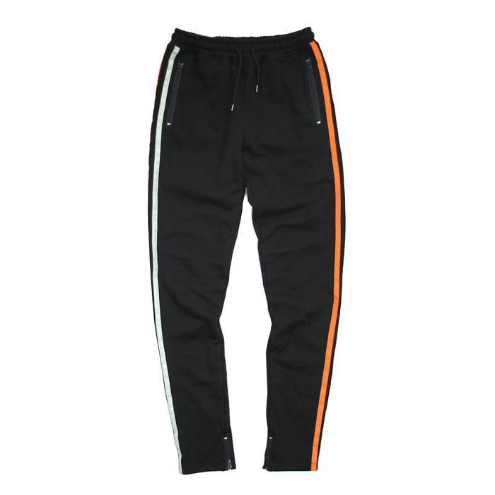 Side Striped Trackers - Black/Orange