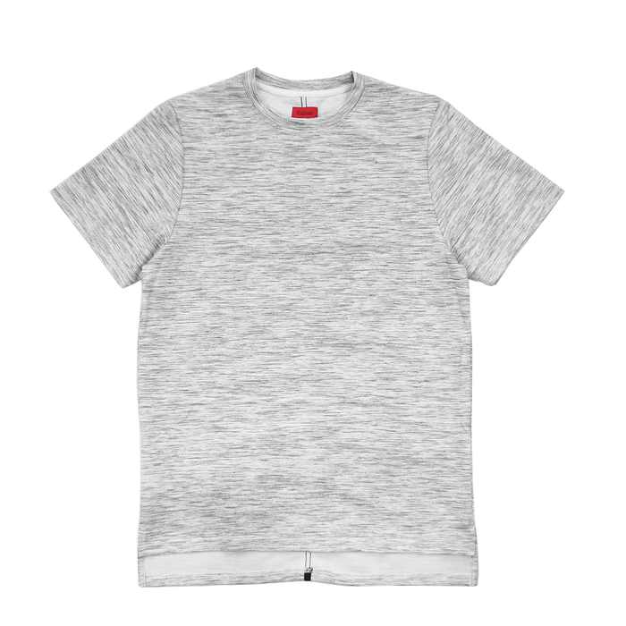 Slub Boxy Tee - Heather Grey