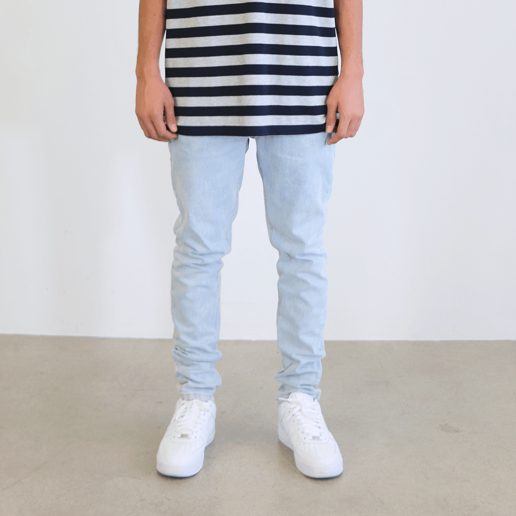 Front Zip 6-Pocket Denim - Bleach Blue