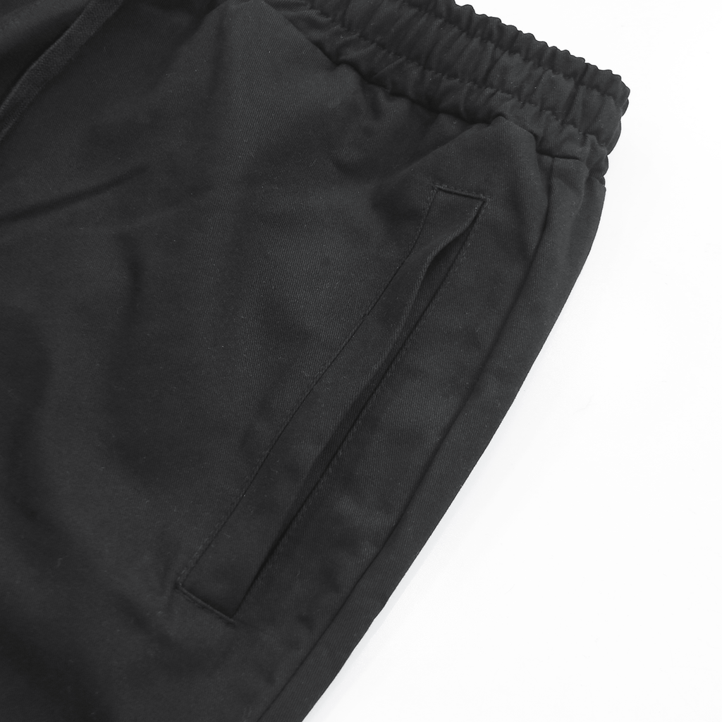 Super Cropped Twill Pant - Black