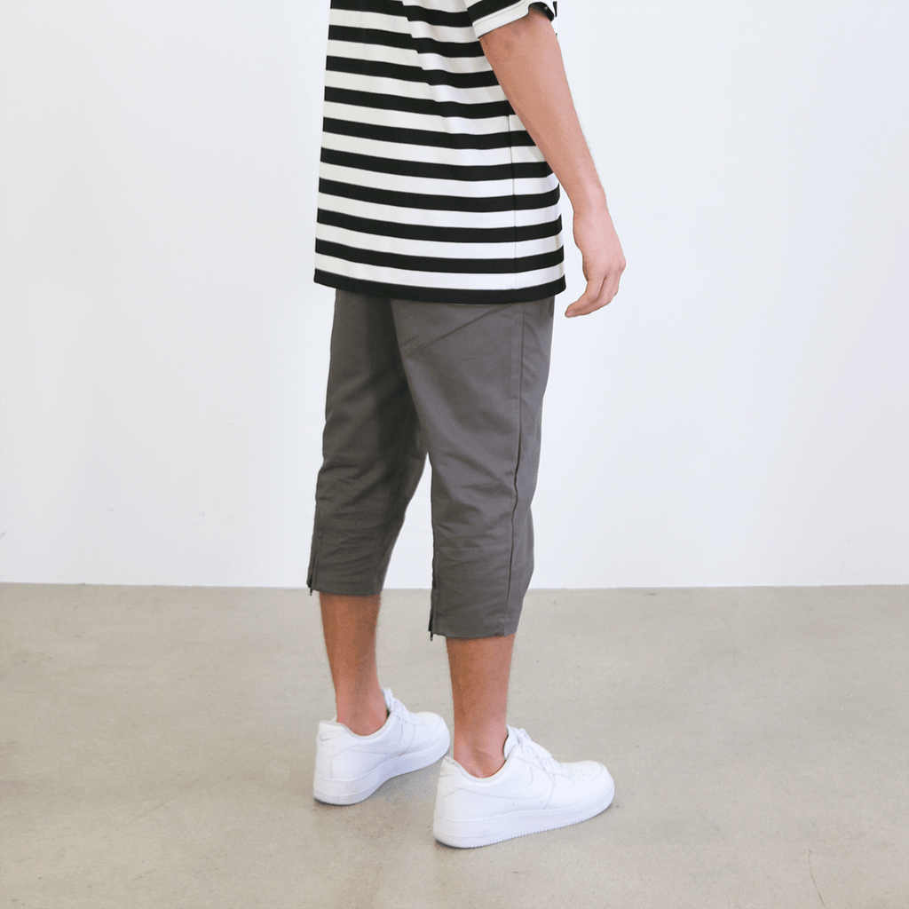 Super Cropped Twill Pant - Dark Grey
