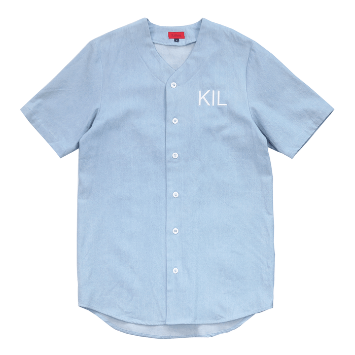 FTP Denim Baseball Jersey - Bleach Blue