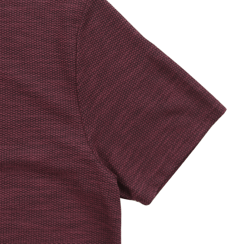 Off Grid Scallop Tee - Brick Red