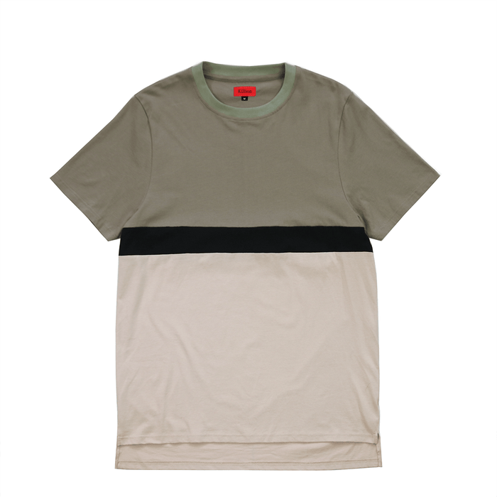 Single Stripe Tee - Olive
