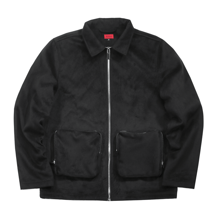 Wool 3D Pocket Jacket - Black