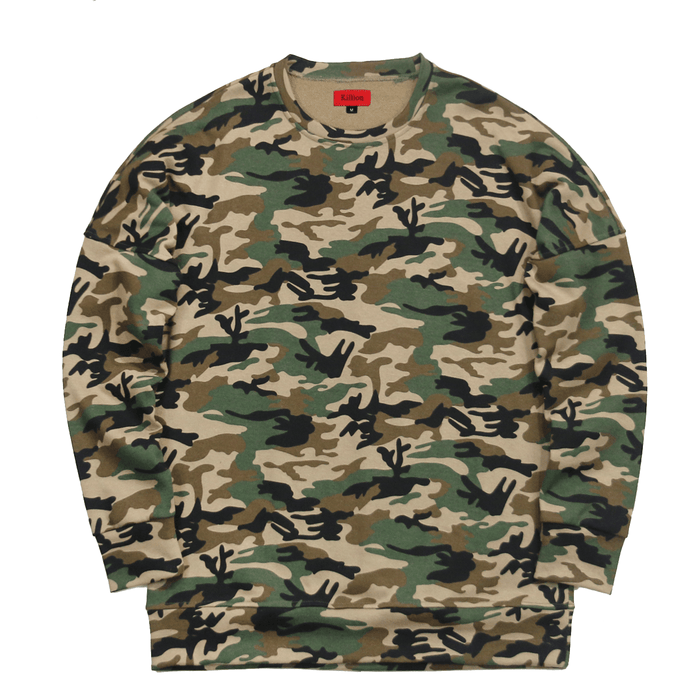 Draped Sweatshirt - Camo