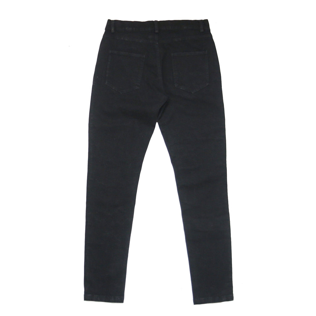 Access Preorder - Destroyed Knee Rip Denim Jeans - Black