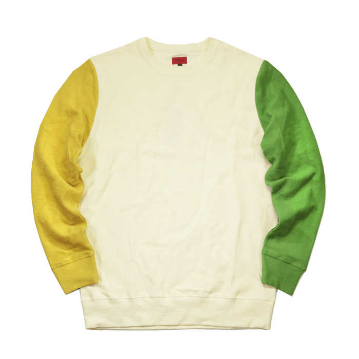 Block Sleeve Reverse Terry Sweater - Cream (12.17.20 Release)