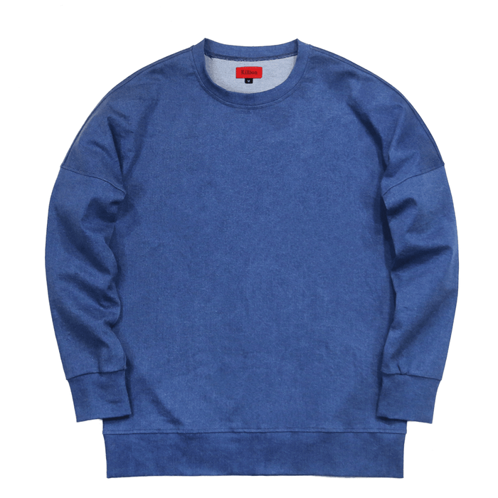 Draped Sweatshirt - Denim