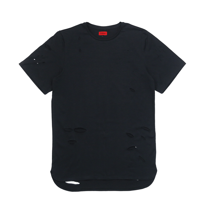 Distressed Essential Shirt - Black