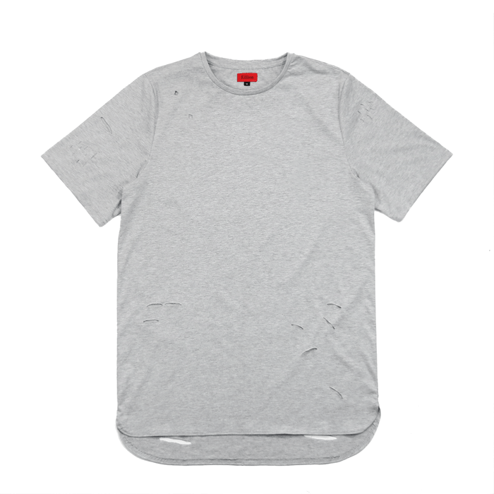 Distressed Essential Shirt - Heather Grey