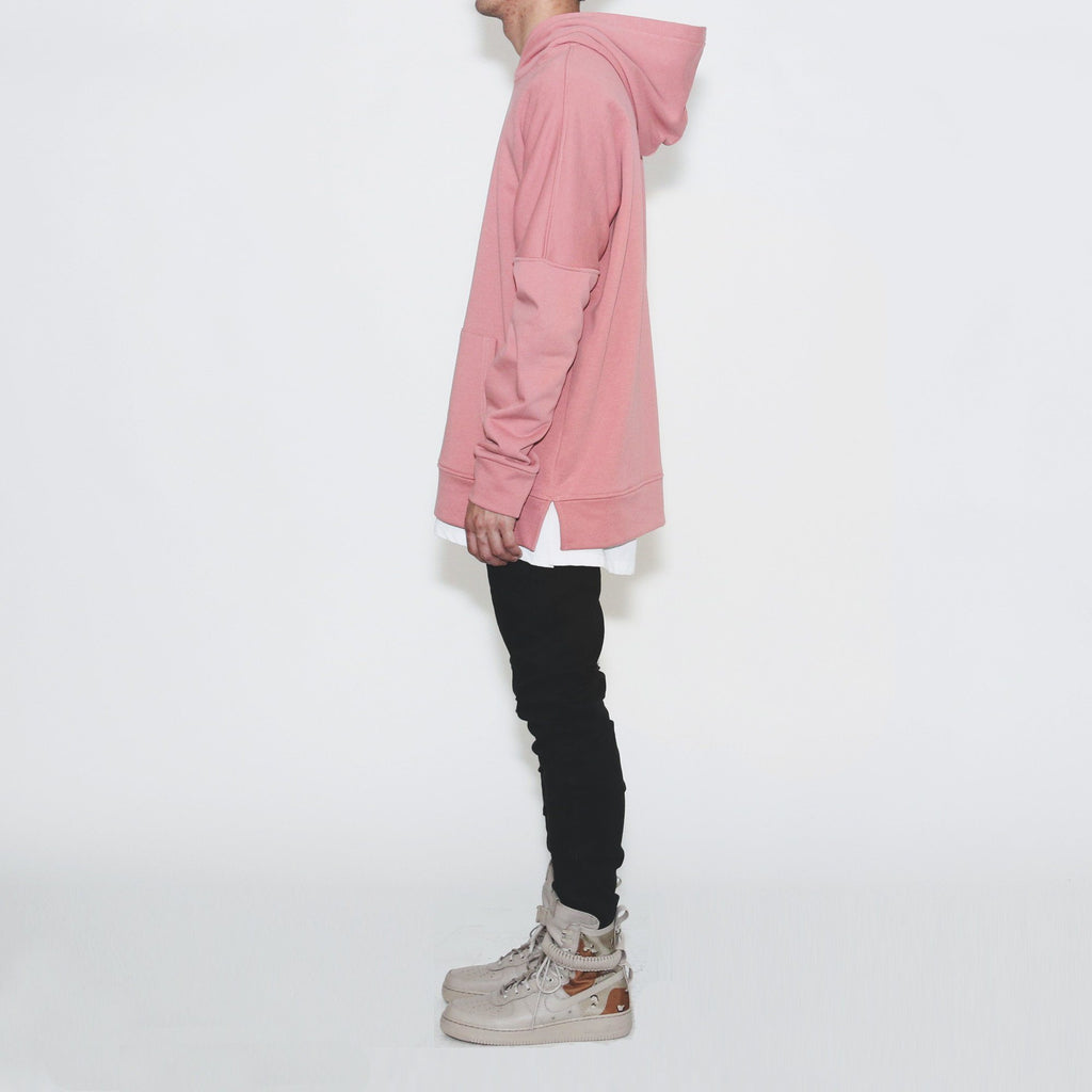 Draped Essential Hoodie - Peach