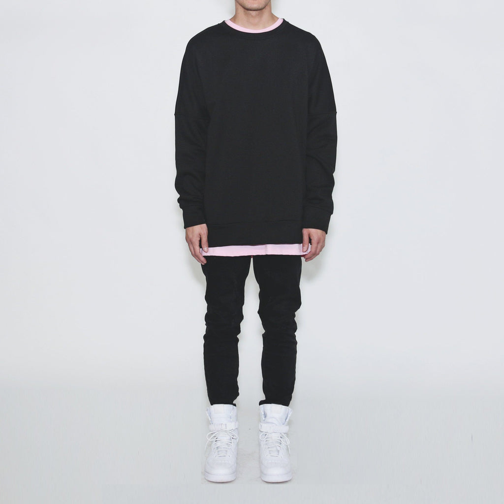 Draped Sweatshirt - Black
