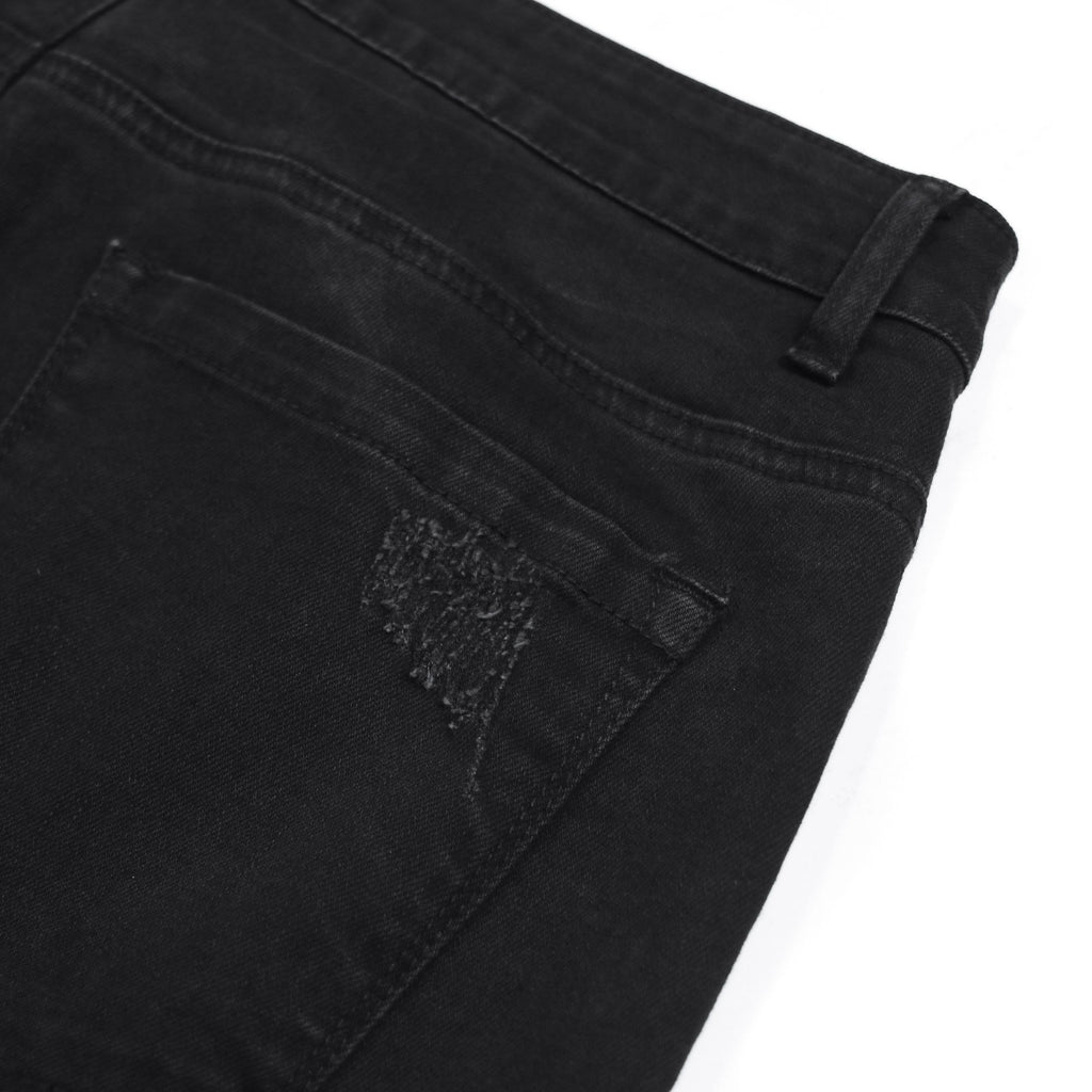 AB-001 -  Black Distressed Denim Jeans