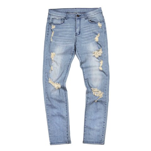 Distressed Stonewashed Denim Jeans (Preorder)
