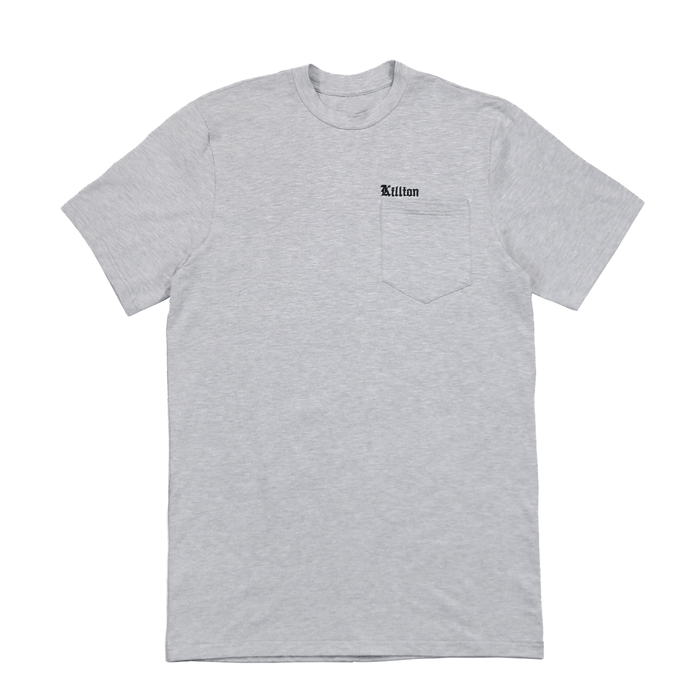 Embroidered Pocket Shirt - Heather Grey