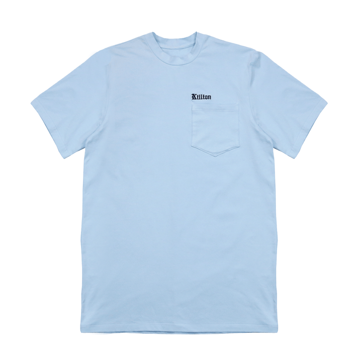 Embroidered Pocket Shirt - Light Blue