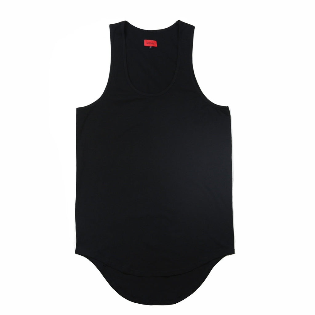 Scallop Tank Top - Black