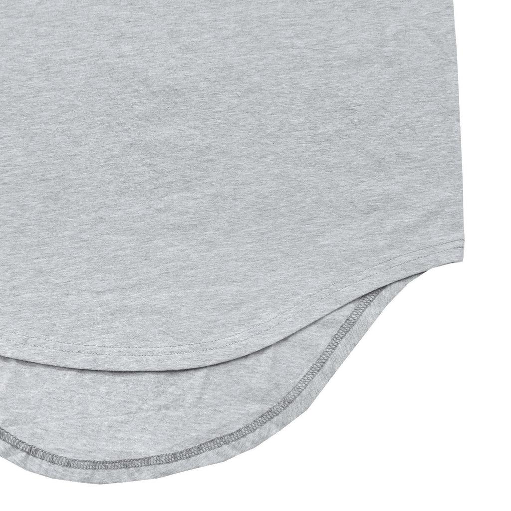 Scallop Tank Top - Heather Grey