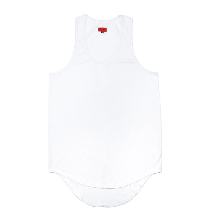 Scallop Tank Top - White