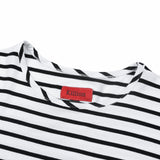 5mm Striped Scallop Shirt - Black/White