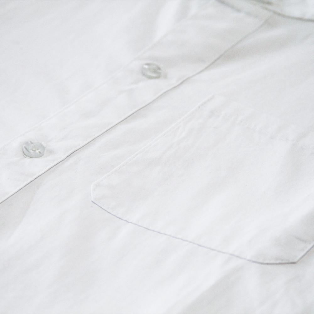 Genoa Button-Up Shirt - White/Black