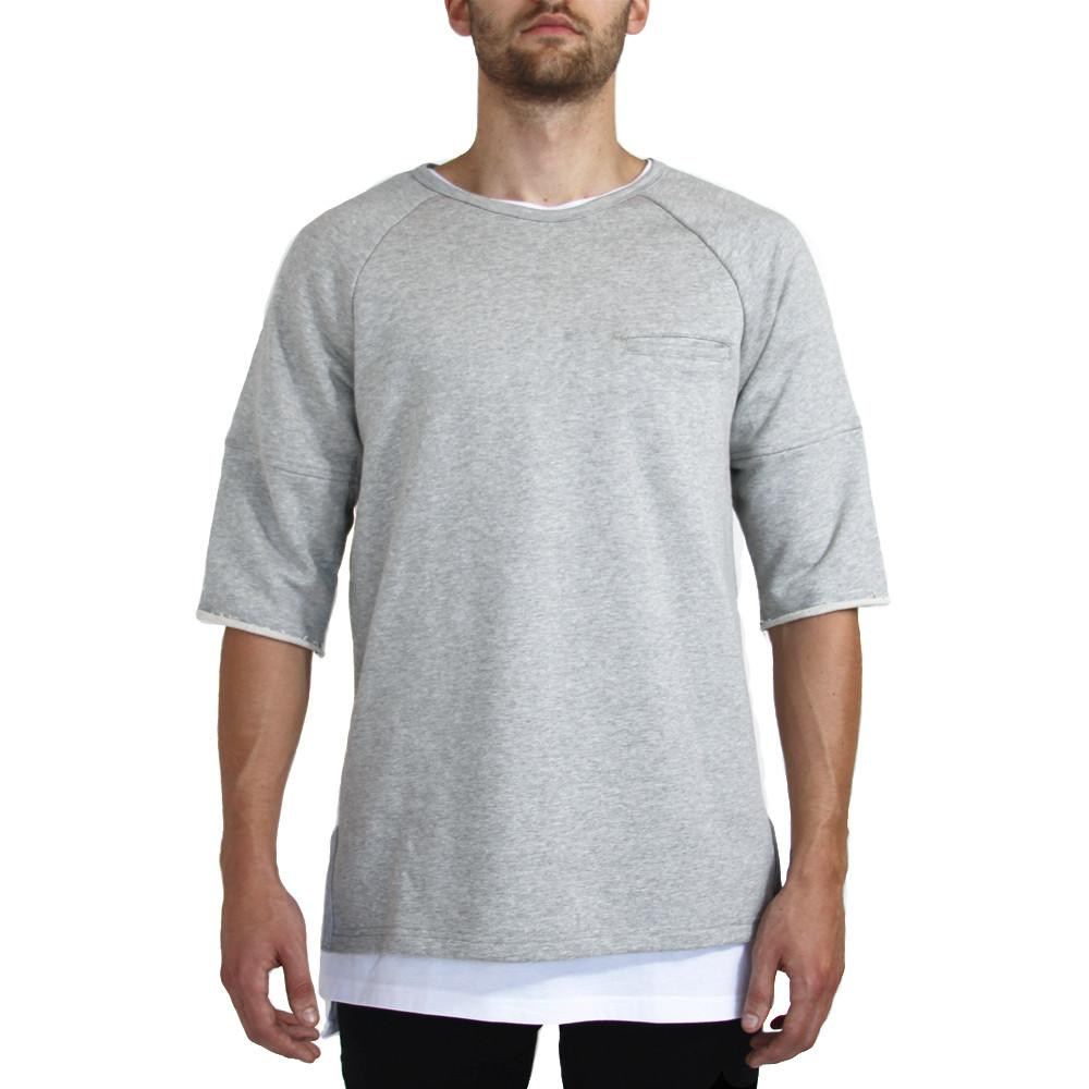 Lounger Fleece Sweater - Heather Grey