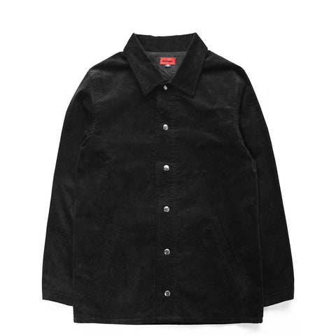 Milan Coach Jacket - Corduroy Black