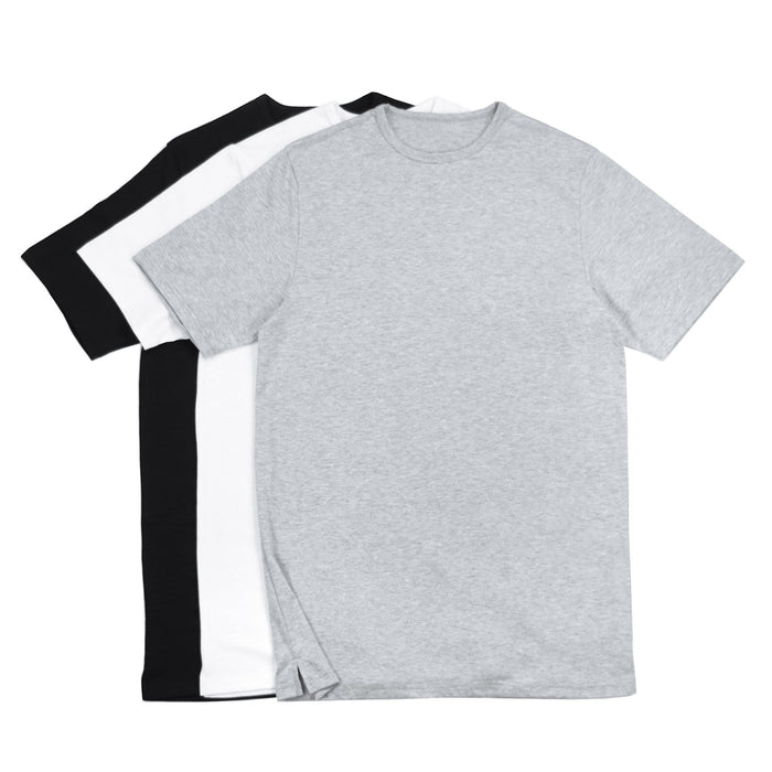 3-Pack Essential - Black/White/Heather Grey
