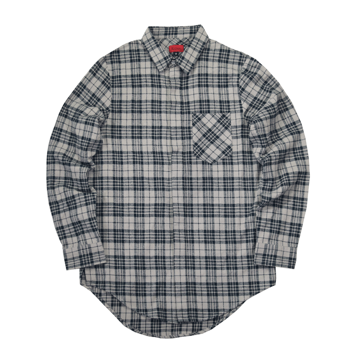 Goodwin Flannel Buttonup - Navy/Sand (06.16.20 Release)