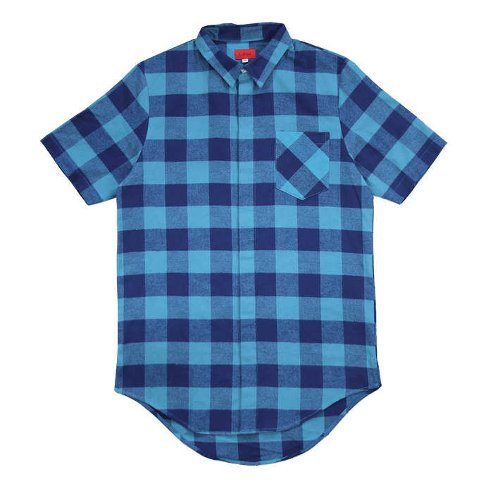 Chapman S/S Button Up - Blue/Light-Blue