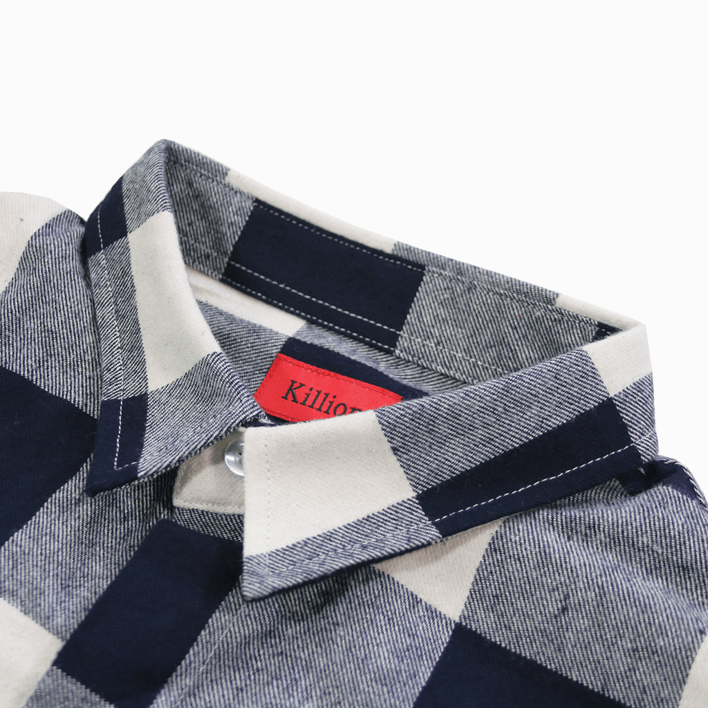 Chapman S/S Button Up - Navy/Cream
