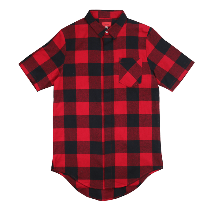 Chapman S/S Button Up - Red/Black