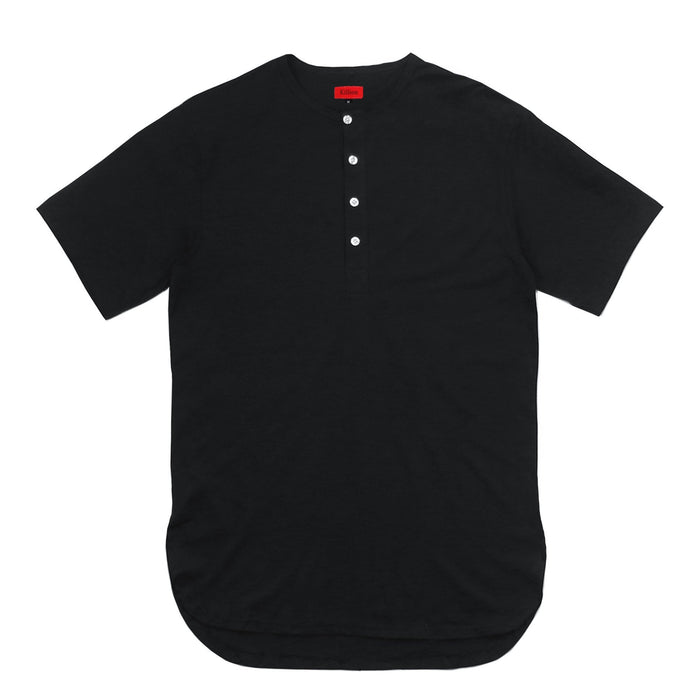 Access Preorder - Half Scoop Henley - Black