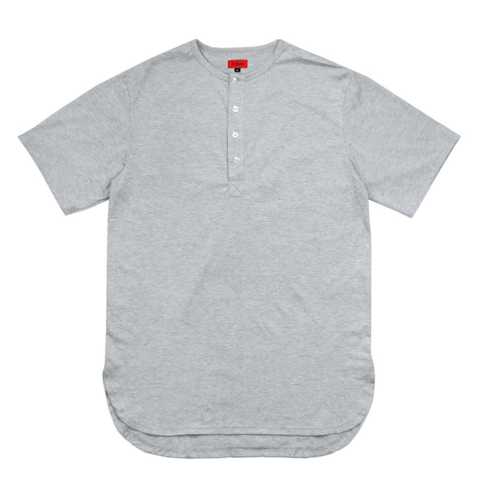 Half Scoop Henley - Heather Grey