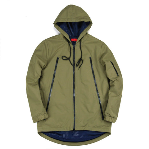 High Zip Tech Parka - Olive