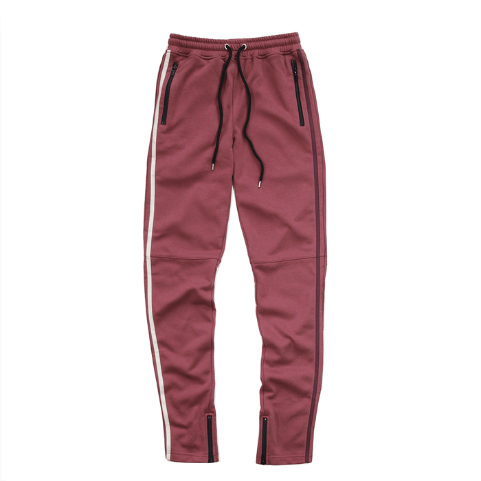 Side Striped Trackers - Plum