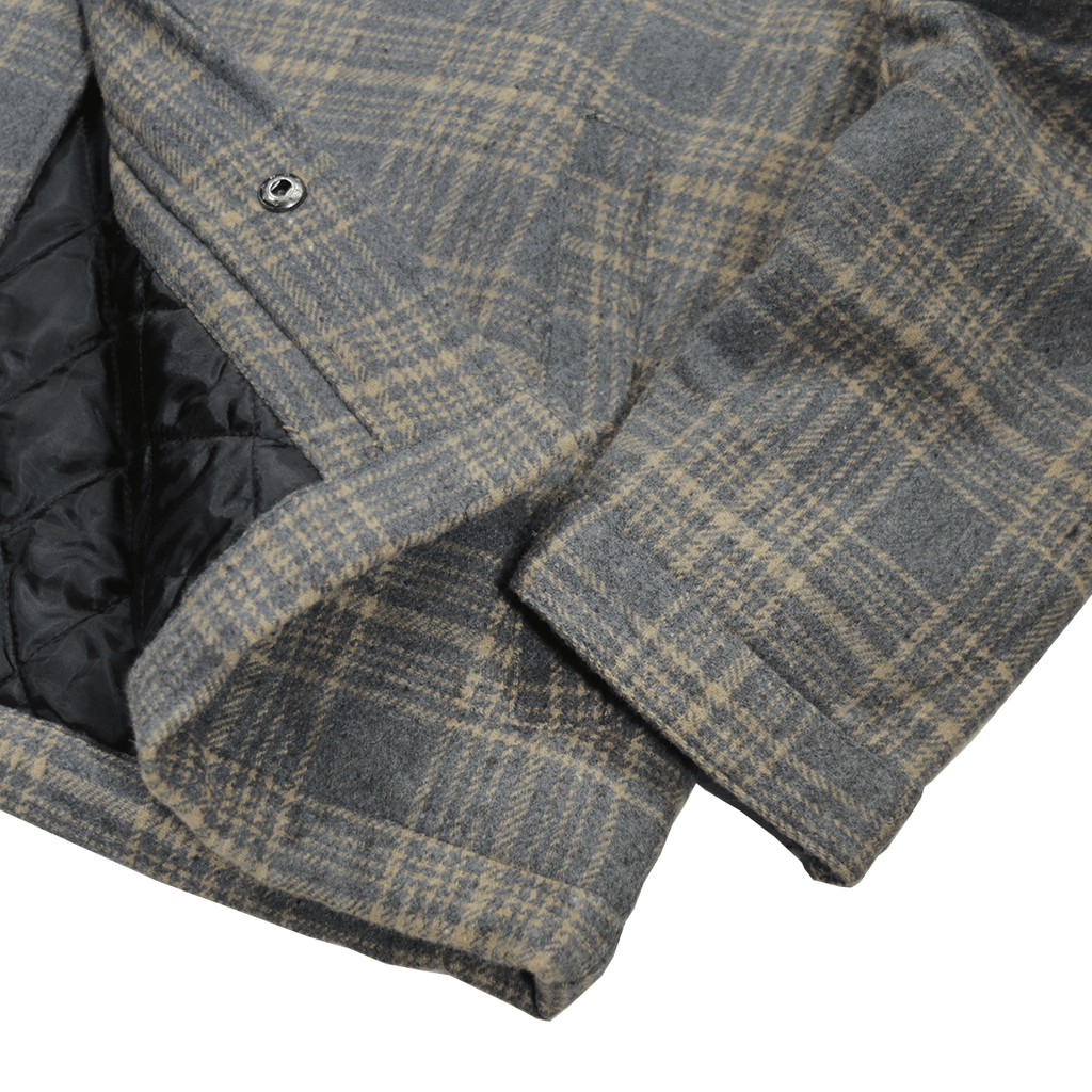 Kiver Flannel Jacket - Grey/Cream (01.12.21 Release)