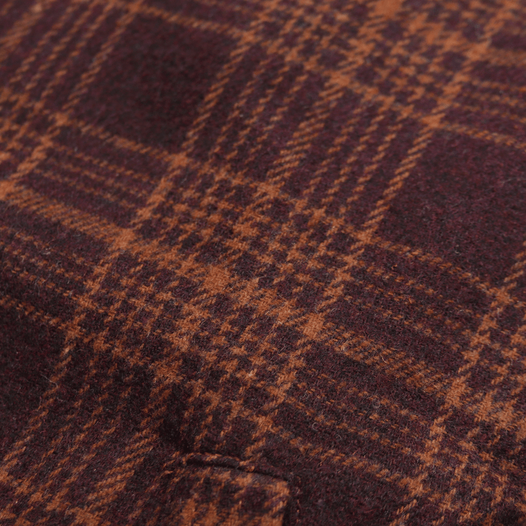 Kiver Flannel Jacket - Maroon/Tan Brown (01.12.21 Release)