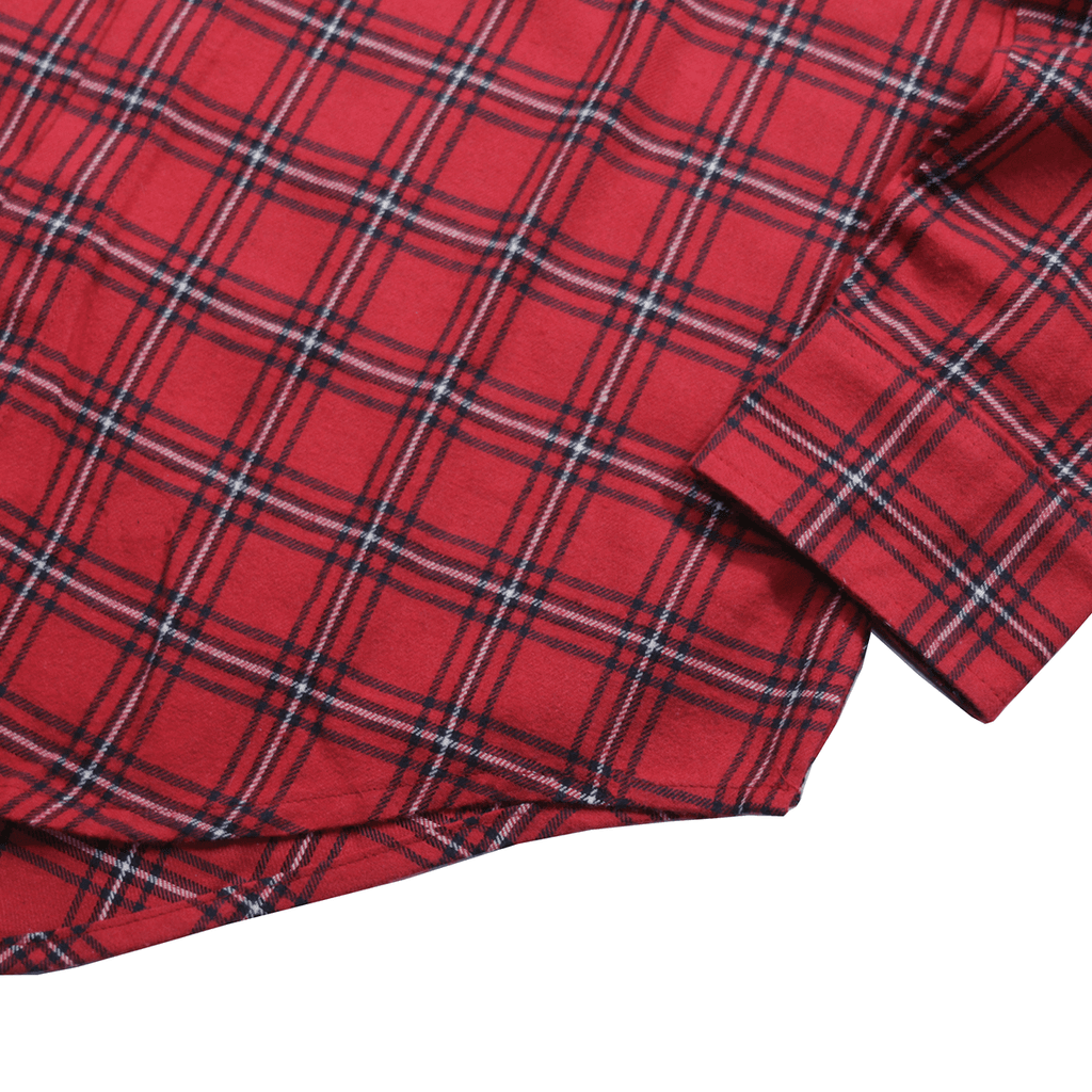 Triton Flannel LS Buttonup - Red/White