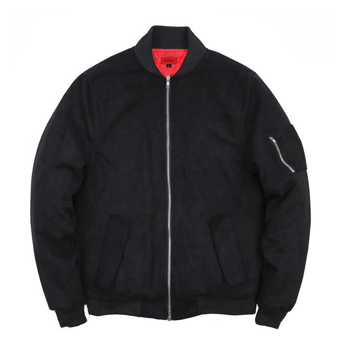 Suede MA-1 Bomber Jacket - Black (01.07.21 Release)