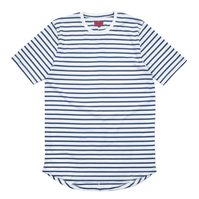 Mulberry Striped Scalloped Shirt - Natural/Light Navy (07.11 Release)