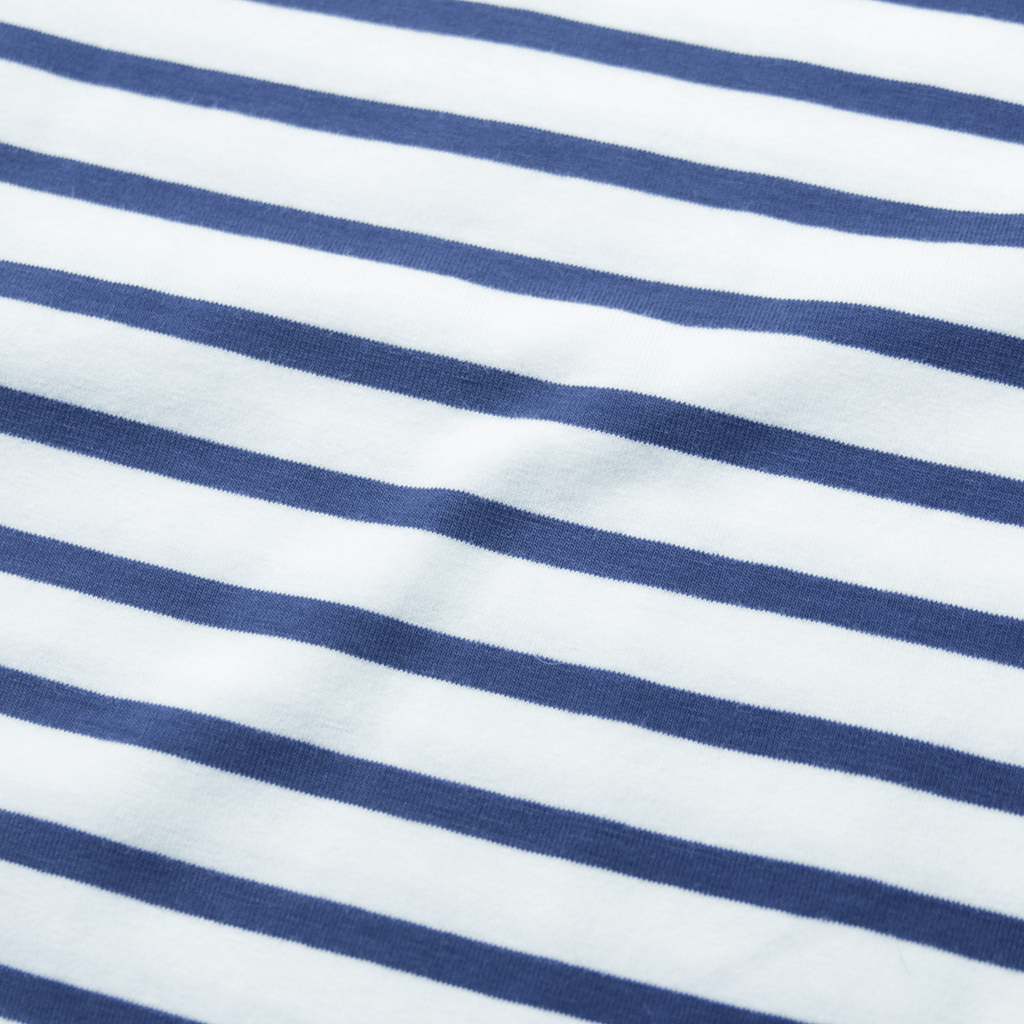 Mulberry Striped Scalloped Shirt - Natural/Light Navy