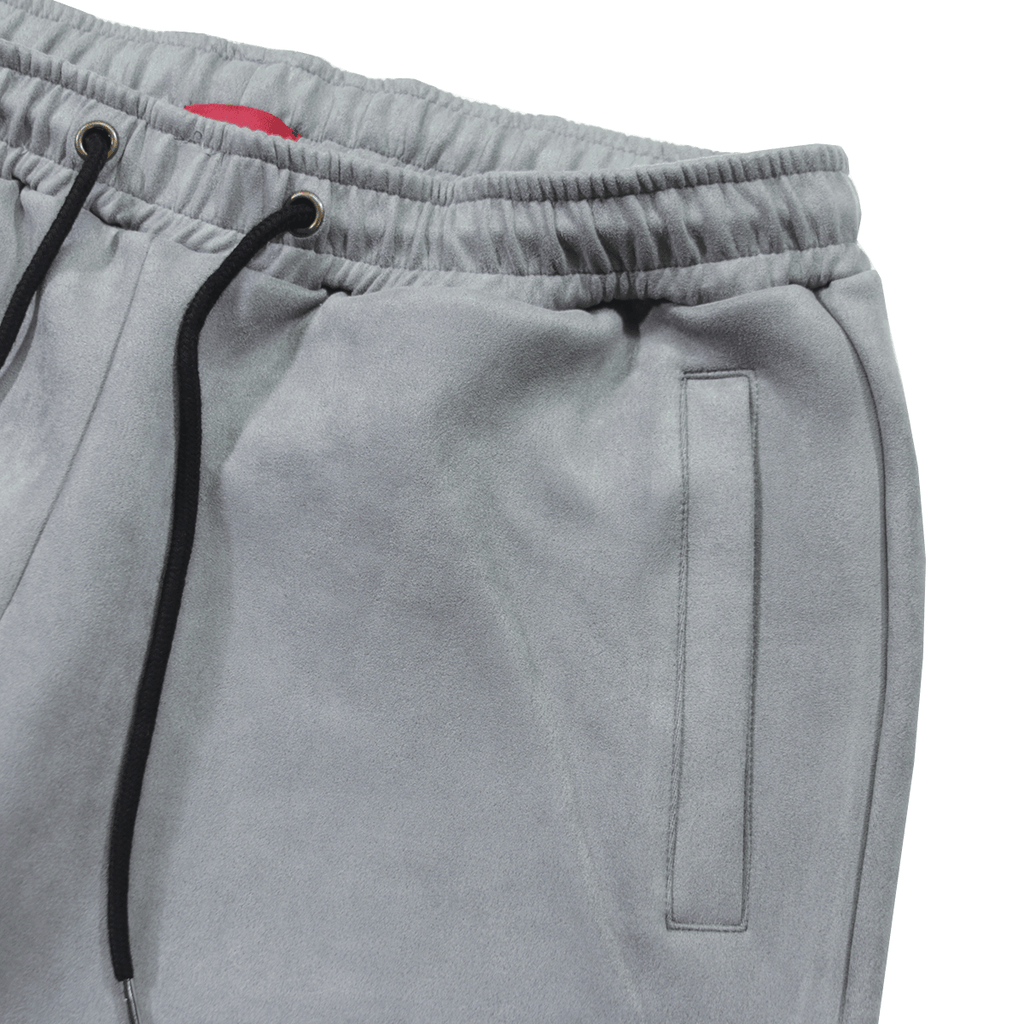 Suede Butter Shorts - Grey