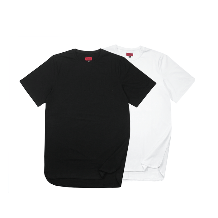 2-Pack Half Scoop Hem SS - Black/White (07.16 Release)